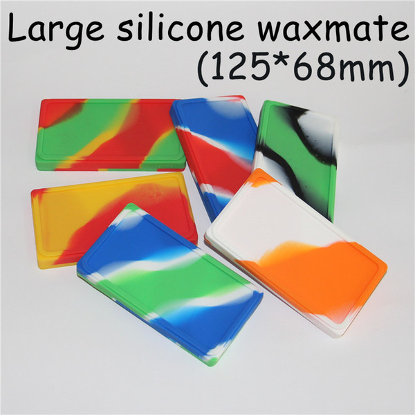 Flat Large Waxmate Containers Big Silicone Pad Silicon Storage Square Shape Wax Jars Dab Concentrate Tool Dabber Oil Holder for Dry Herb