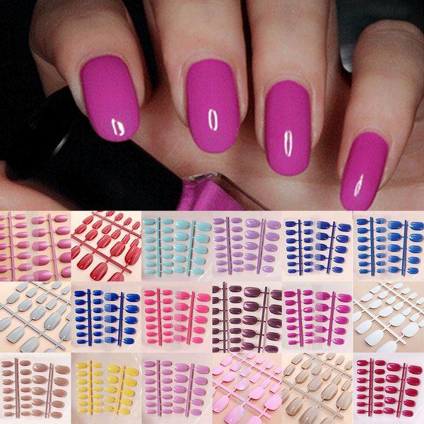 Acrylic nail fal e nail tip de igner fa hion fal e french nail 24 pc 24 hand painted fal e nail