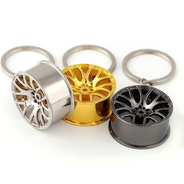 Car Keychain Wheel Tire Styling Creative Mini Car Key Ring Auto Car Key Chain Keyring for BMW VW Audi Honda Ford car-styling