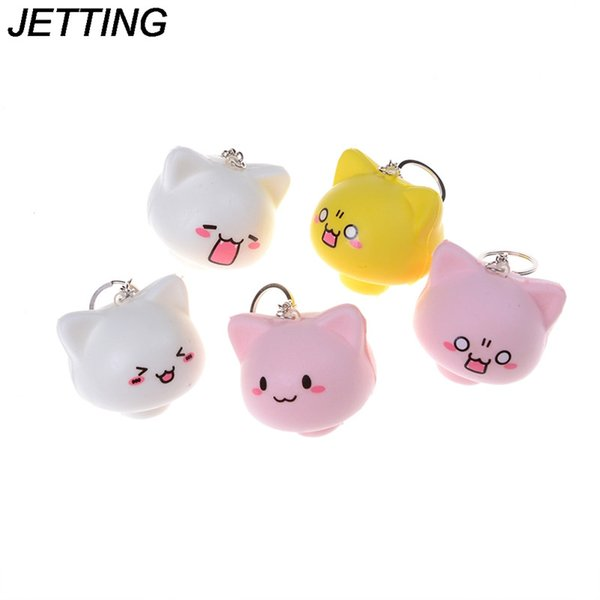 Mushroom Squishy Cat Kawaii Cartoon Cute Face Decor Bag Cell phone Straps Kid Toys Gift Bread Cake Cream Scented Toys