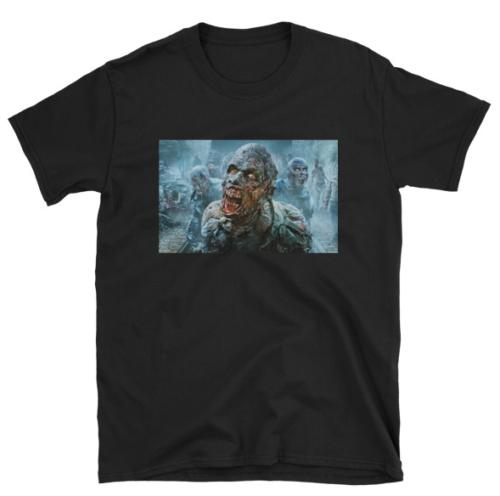 ZOMBIE APOCALYPSE NOTTE DEL VIVO MORTO T SHIRT NERO 103 Divertente Tee Shirts Hipster O-Collo Cool Top Hip Hop Manica corta