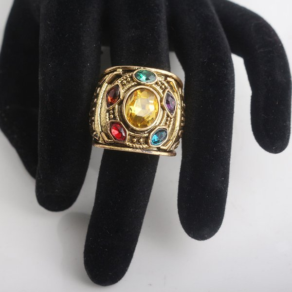 Wholesale 3 Infinity War Ring Thanos Infinite Power Gauntlet Crystal Rings for Women Men Cosplay Jewelry