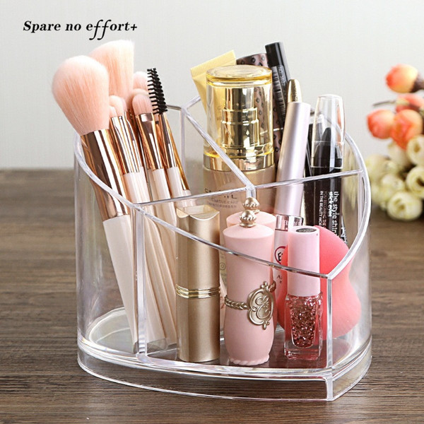 Acrylic Cosmetic Organiser Makeup Brush Storage Box Organizer Cosmetic Tools Case Holder Storage Box Pot Pinceaux Maquillage