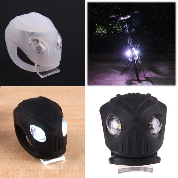 1pcs Alien Appearance Silicone Waterproof Bike Bicycle Front Head LED Safe Warning Lights Outdoor Night Cycling Lamp Lighting