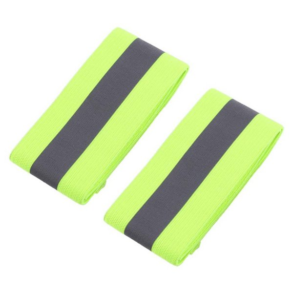 2PCS/Pair Elastic Ankle Wrist Bands arm For Waling Cycling Running Outdoor Sports High Visibility Band Reflective Wristbands J2