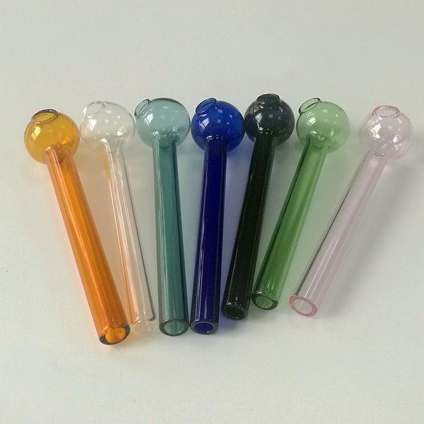 En gros En Verre Coloré Fumer Des Pipes 4 pouces Pipe En Verre Pyrex Pétrole Brûleur Pipe