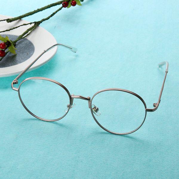 High Quality Classic Glasses Men Women Clear Lens Glasses Alloy Metal Spectacle Frame Optics Flat Circle Round Unisex Eyeglasses