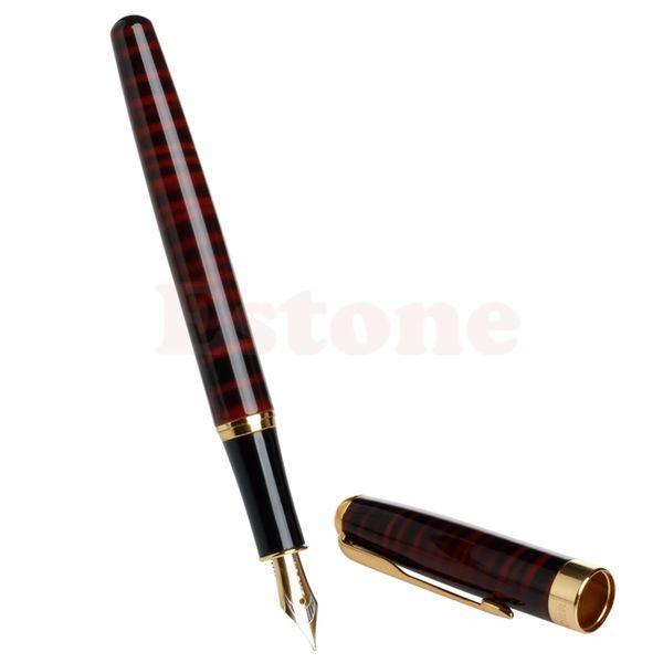 Migliore baoer 388 Stilografica a pennino medio a strisce rosse e nere