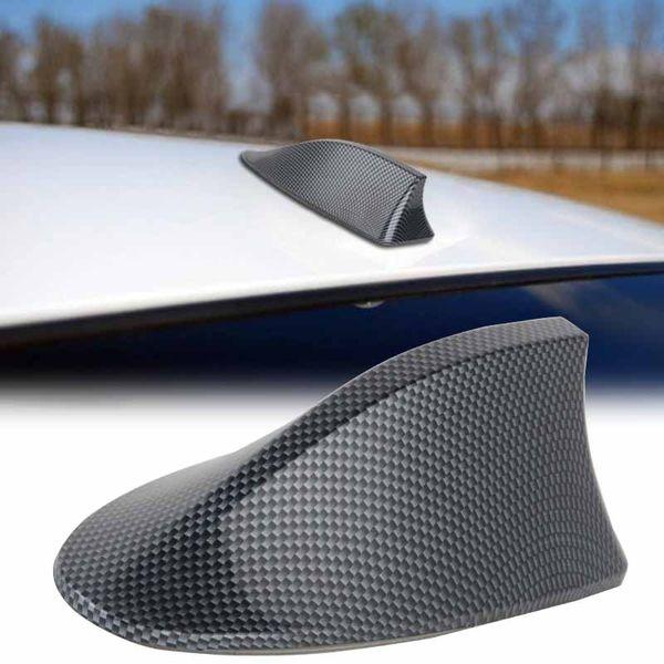 1pc High Performance Shark Fin Antenna Carbon Fiber Style Car Shark Fin Roof Antenna Radio FM/AM Decorate Aerial