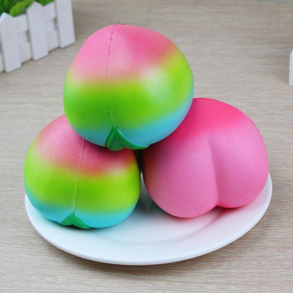 new PU squishy charm simulation soft fragrant peach slow rebound big peach ornaments decompression toys