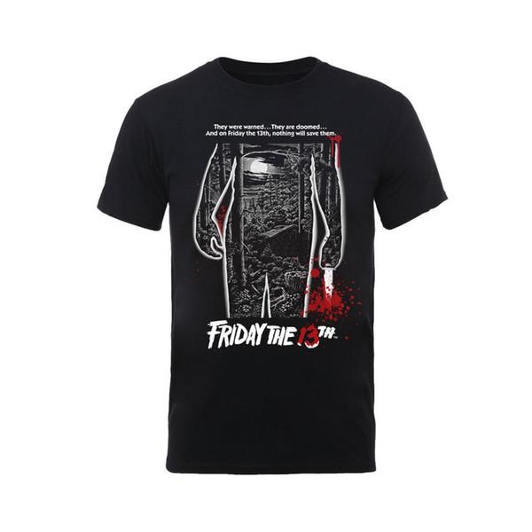 Friday the 13th 'Bloody Poster' T-Shirt - NEU UND OFFIZIELL jurney Print t-shirt