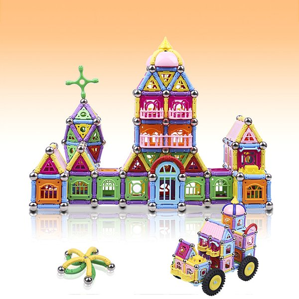 Magnetic building block 438PCS kids educational puzzle toys children palace construction building christmas gifts Non-Toxic BPA Free toys