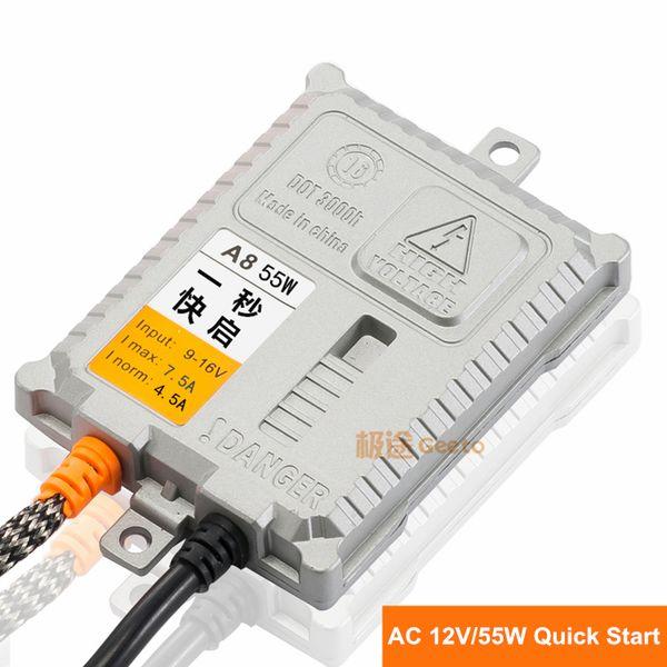 A8 Digital AC 12V 55W HID Ballast 1 second quick start for HID Xenon Conversion Kit auto lamp car headlight bulb free shipping