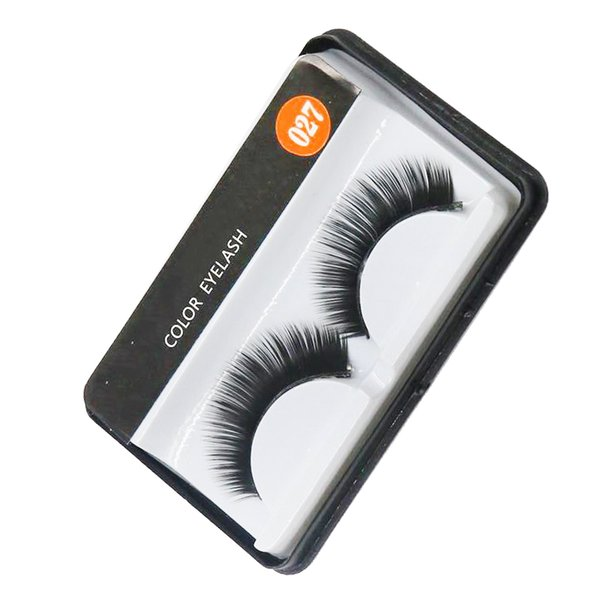 High Quality Brand False Eyelashes Handmade Natural Long Curl Thick Soft Fake Eye Lash Extensions Flair Black Color Eyelashes Lashes #027
