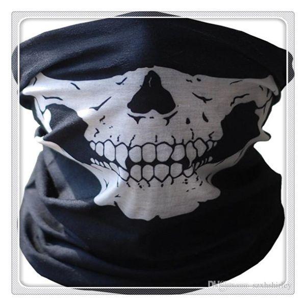 New Cycling Masks Function Bandana Headwear Skull Bandana Motorcycle Helmet Neck Half Face Masks Motorcycle Bike Bicycle Black Tube Masks