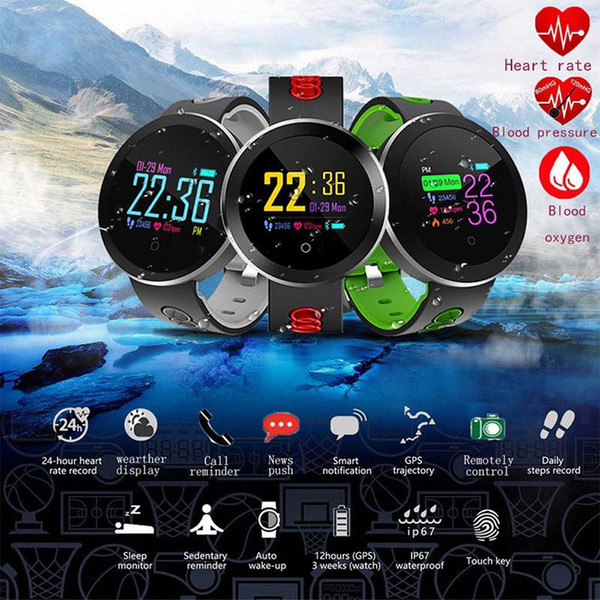 Fitness Tracker Smart Watch Q8 Pro Smartwatch Waterproof Bracelet Heart Rate Monitor Sport Wristband for Android IOS r25