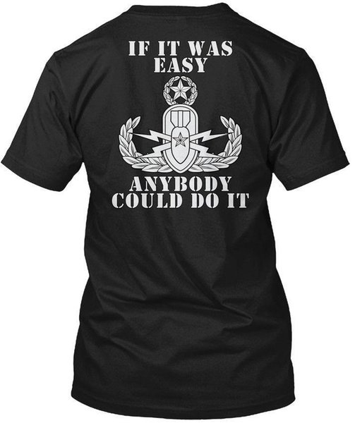 Eod Master If It Was Easy - Bomb Disposal T-Shirt di Hanes Tagless