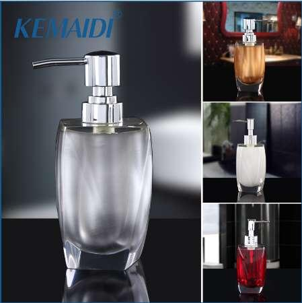 KEMAIDI New Design Luxury 5 Color Portable Household Soap Dispenser Practical Liquid Soap Shower Container Box Holder