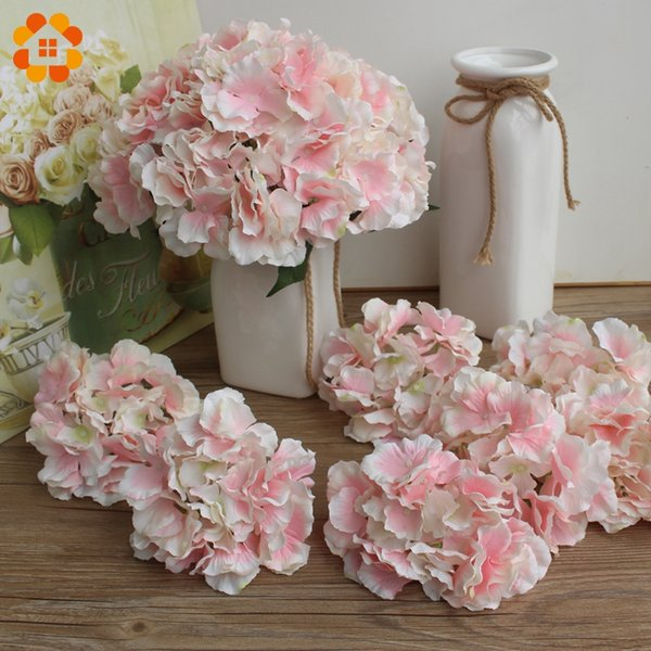 10pcs dekorative Kunstseide Hydrangea Köpfe Simulation Diy Blüte Silk Blumen für Hochzeit Home Decoration Blume