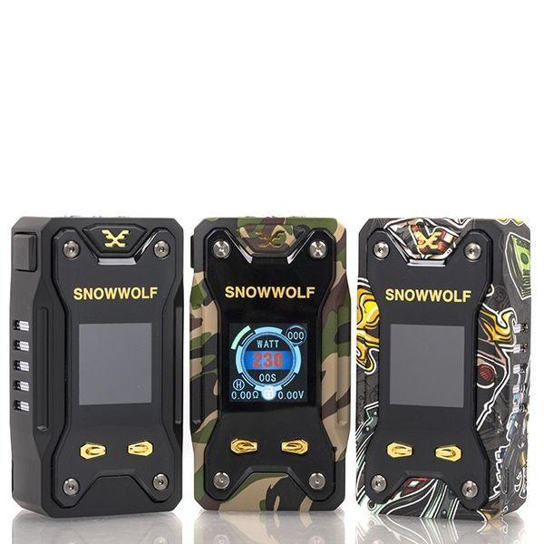 100% Original Sigelei Snowwolf Xfeng 230W TC Box Mod Fit for Dual 18650 Battery Snowwolf Xfeng 230W Vape Mod DHL free