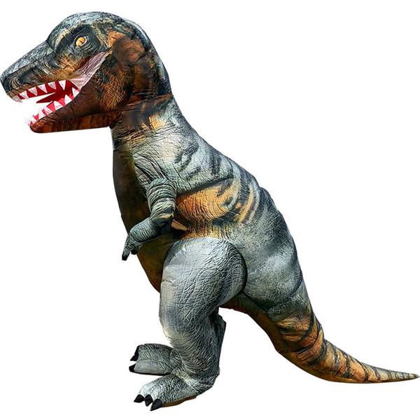 Adulto T-REX Traje Inflável Natal Cosplay Dinossauro Animal Macacão Traje de Halloween para Mulheres Dos Homens