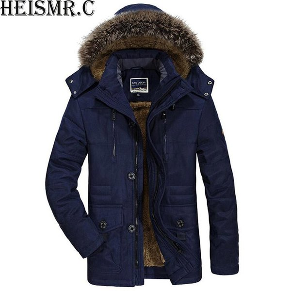Nuevos hombres chaqueta de invierno para hombre de la marca más terciopelo  con capucha acolchado hombre cd21005d94b0