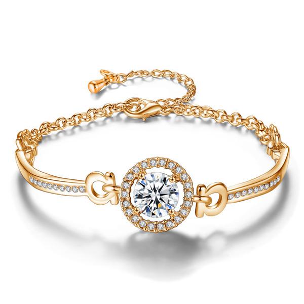 Luxury Designer Women rhinestone Diamonds bracelet chains fashion Charm pendant Bracelets jewelry Valentine 's Day gift for girlfriend hot