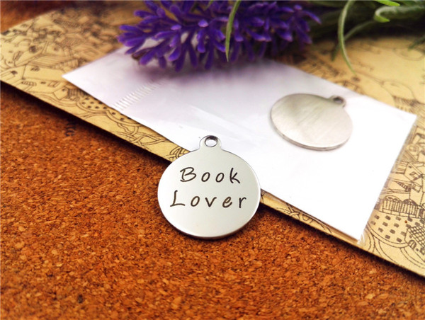 "20pcs--""book lover""stainless steel charms more style for choosing DIY Charms pendants for necklace"