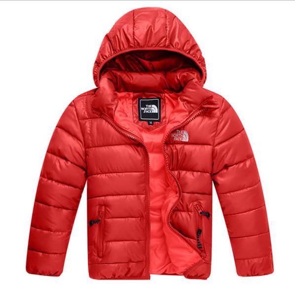 Yeni Stil çocuk Aşağı Pamuk Ceket Kış Sıcak Bebek Erkek Giyim Kız Dış Giyim Çocuk Coat Ücretsiz Kargo 100-140 cm