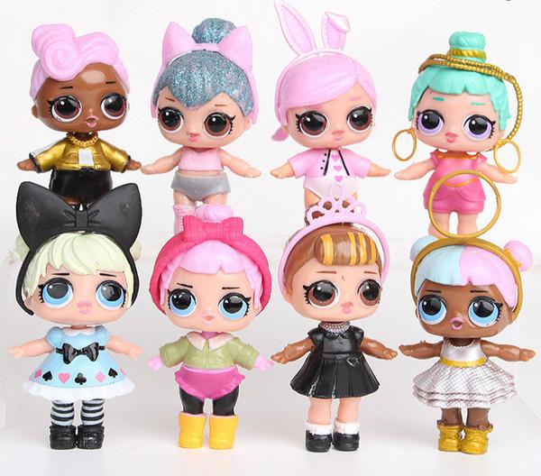 8Pcs/lot LOL Doll American PVC Kawaii Children Toys Gift Anime Action Figures Realistic Reborn Dolls 9cm