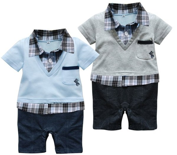 87fa04c19 2017Hot selling Baby romper/Boys clothing set baby bodysuits Polo style  short-sleeved Romper
