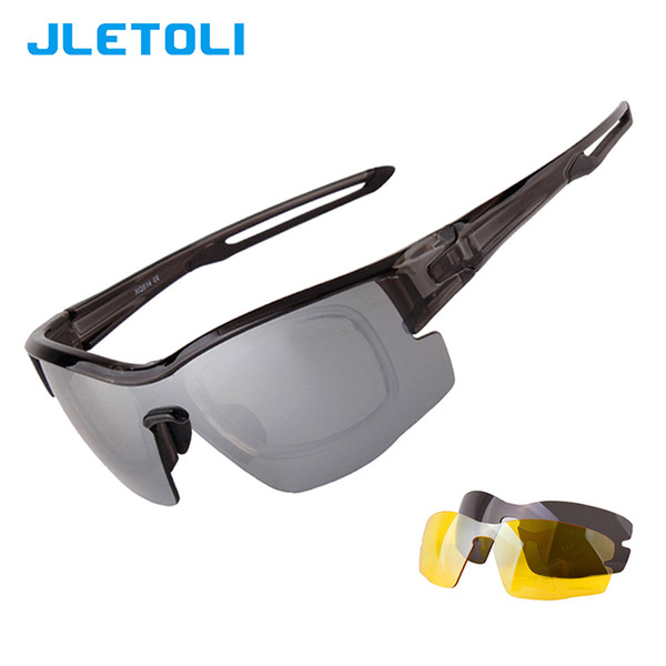 JLETOLI 3 Lens Polarized Cycling Glasses Men Women Sport Road Bike Eyewear Bicycle Sunglasses Goggle Oculos Gafas Ciclismo