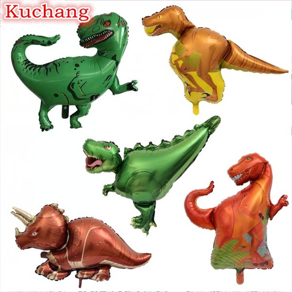 50pcs walking balloons Jurassic dinosaur balloon Tyrannosaurus Aluminium Foil balloon party birthday decoration children's toys