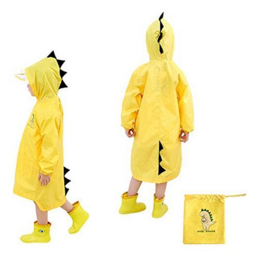 Children Cartoon Rain Coat Kids Rainwear Cute Baby Funny Waterproof Raincoat Rain Coat Clothes Set