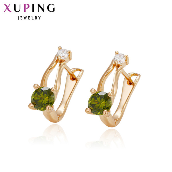whole sale11.11Xuping Earring Special Design Gold Color Plated Synthetic CZ New Jewelry for Women New Arrival High Quality 28967