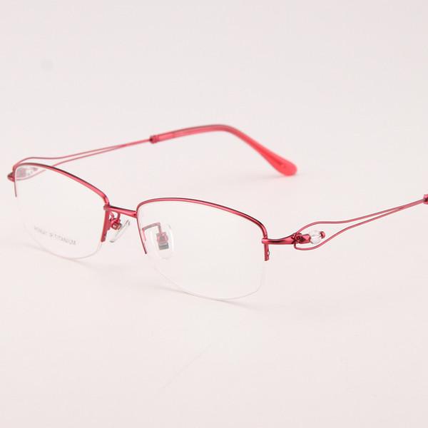 largeur-138 pure titane mode femmes lunettes montures de lunettes ultra-léger 8g optique lunettes de lecture myope lunettes