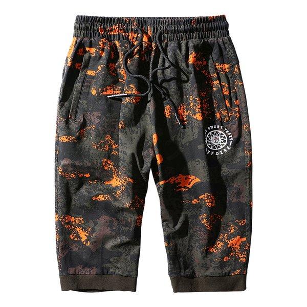 130 kg può indossare pantaloni sportivi da uomo Pantaloni sportivi pantaloni di cotone di grandi dimensioni 3/4 Pantaloni stile hip hop Pantaloni mimetici 7XL 8XL Abbigliamento da corsa