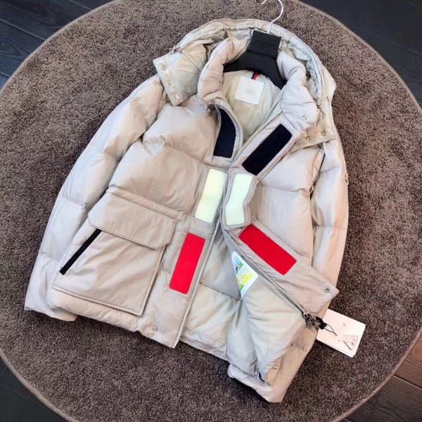 Quality quality Luxury MAYA Mens Brand European Size 90% Goose Solid Color Parker Coat Down Jacket Men women Cold Warm Mens designer jackets