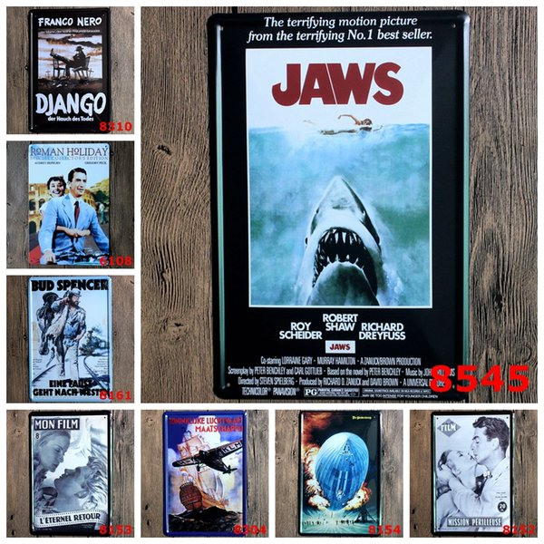 Movies Tin Sign Logo Plaque Vintage Metal Painting Wall Sticker Iron Sign Board Decorative Plates Wholesale 20X30 CM