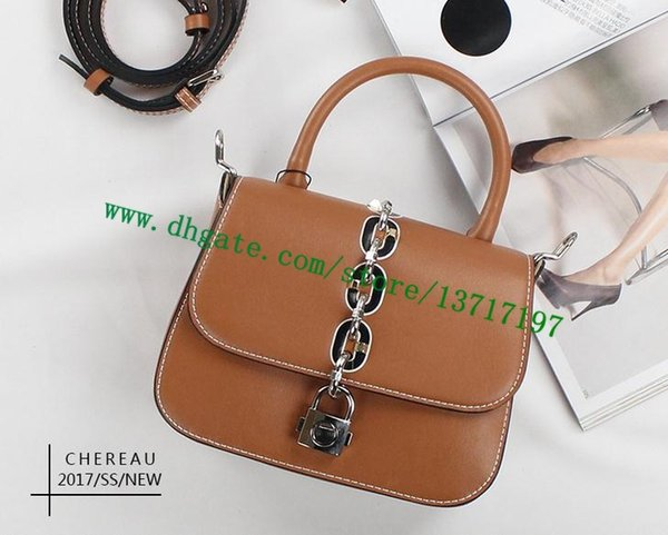 Top Grade Women Real Leather CHAIN IT BAG PM M44115 Lady Shoulder Bag Messenger Cosmetic Pack