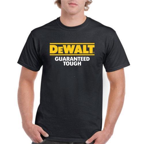 DeWalt Tools Guaranteed Tough Logo New T-Shirt Funny Tee Shirts Hipster O-Neck Cool Tops Hip Hop Short Sleeve comfortable fabric
