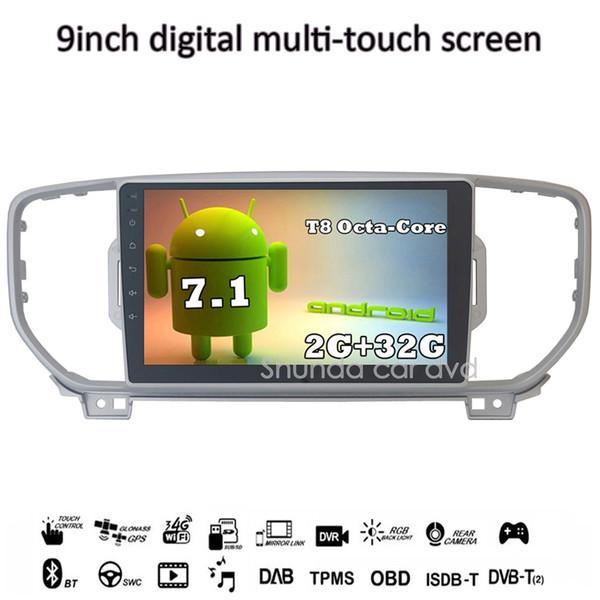 SHUNDA 9 inch Android 7.1 T8 2G 32G for KIA KX5 Sportage 2016 2017 Car dvd Radio player with Canbus box Sensor 3G 4G WIFI GPS BT
