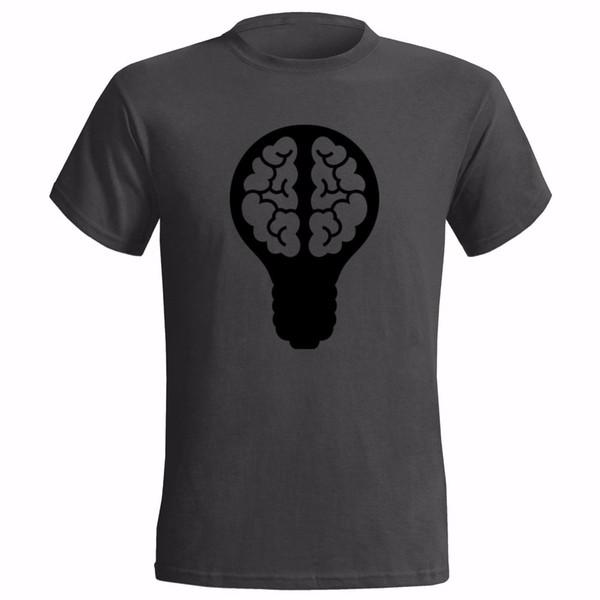 LIGHT BULB BRAIN DESIGN ART MENS T SHIRT IDEA THOUGHT THINKING FREEDOM IDEOLOGY tshirt hot new fashion top free shipping shirts