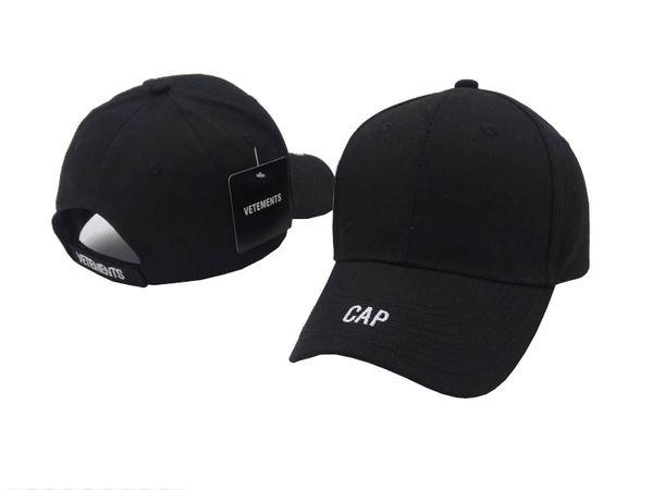 Sıcak Serin 2019 kpop VETEMENTS Büyük Baba 18FW BNIB Beyaz Unisex Logo Beyzbol Şapkası Ayarlanabilir baba taktik beyzbol şapkası beanie kap casquette