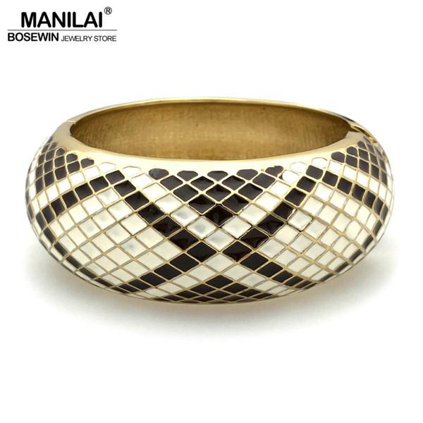 Bangles MANILAI gioielli indiani serpente forma circolare lega vintage braccialetti oro tono colore polsino bracciali per le donne 2018