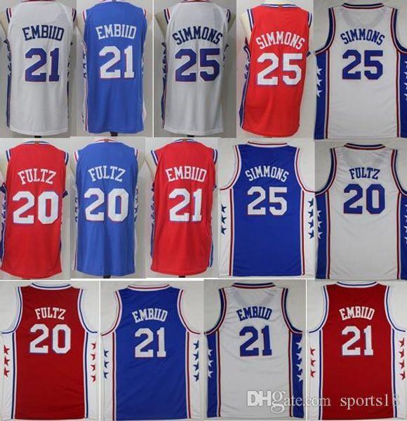pretty nice e648b 32be5 2018 2018 Men Swingman Jersey 21 Joel Embiid 25 Ben Simmons 20 Markelle  Fultz Player Version 100% Stitched Jerseys Cheap Ncaa College From  Zoujerseys, ...