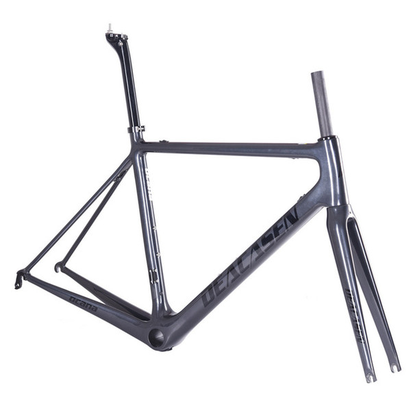 DEACASEN 2018 Super light Cheap Di2&mechanical carbon road fiber frame carbon bicycle frame+seatpost+clamp+headset+fork Buyers Bear The Char