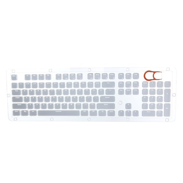 Hot sale Translucent Double Shot Crystal 104 KeyCaps Backlit for Cherry MX Keyboard Switch for dropshipping
