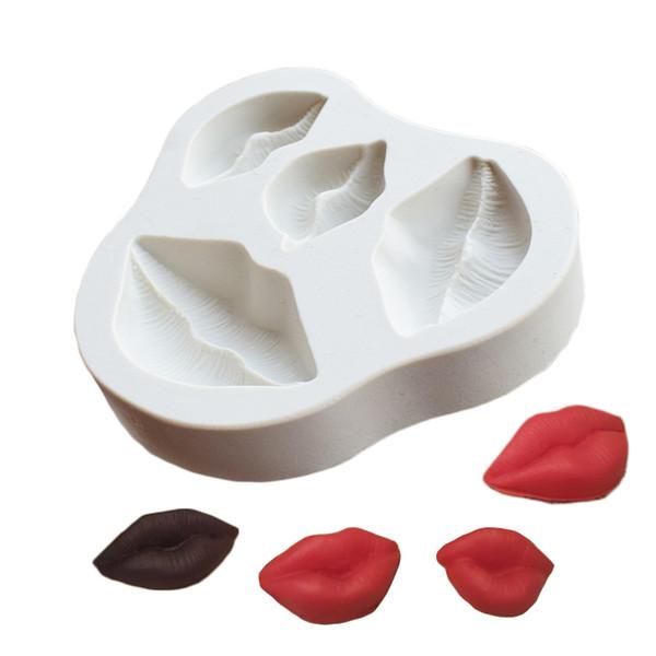 Labios Sexy Beso Molde de Silicona Fondant Molde Herramientas de decoración de Pasteles de Chocolate Gumpaste Moldes Sugarcraft Accesorios de Cocina