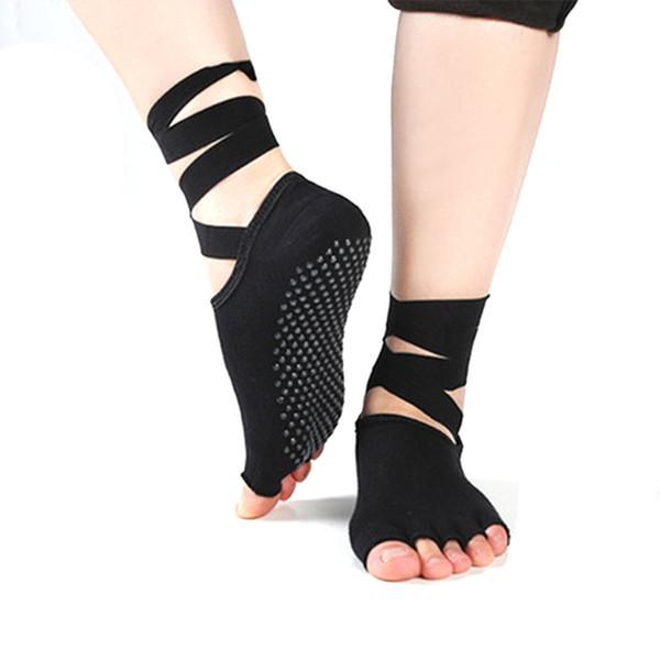 Women Sport Yoga 5 Toes Socks Exercise Massage Cotton Pilates Anti-slip Sock